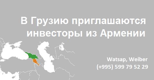 В Грузию приглашаются инвесторы из Армении