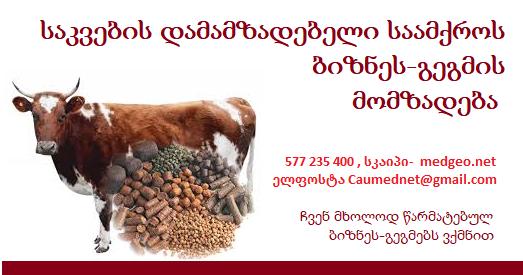 საკვების დამამზადებელი საამქროს ბიზნეს გეგმა -თა მომზადება 577 235 400